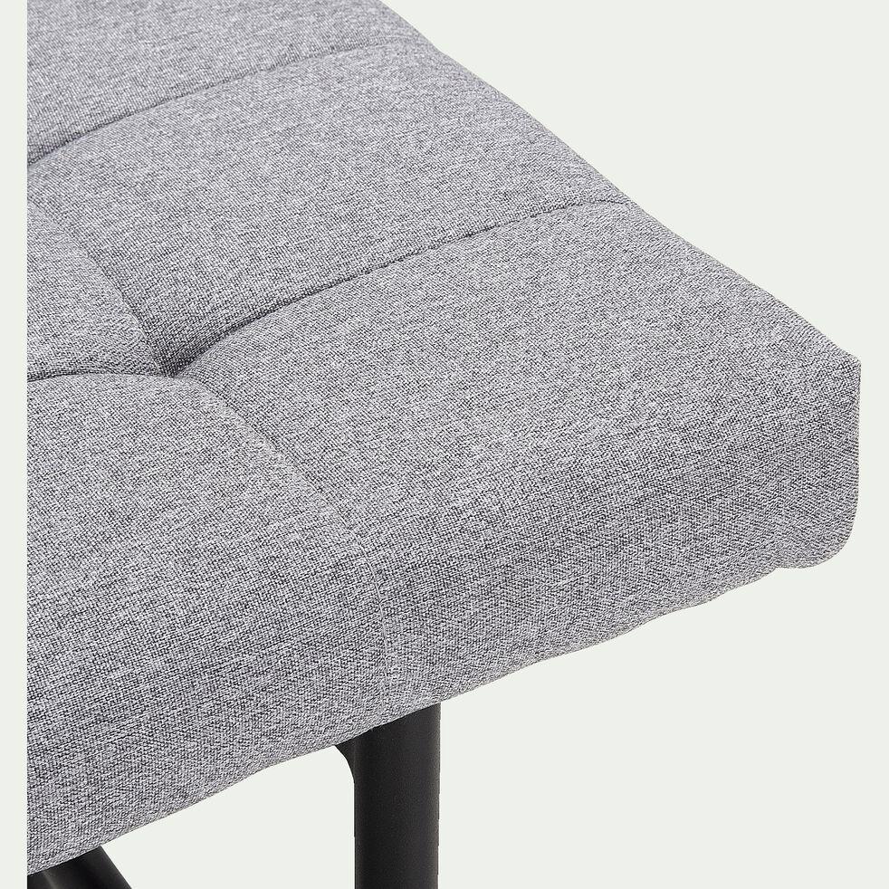 Banc en tissu gris borie - L160cm-MANOLO