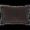 Coussin en coton marron 30x50cm-OURSIN