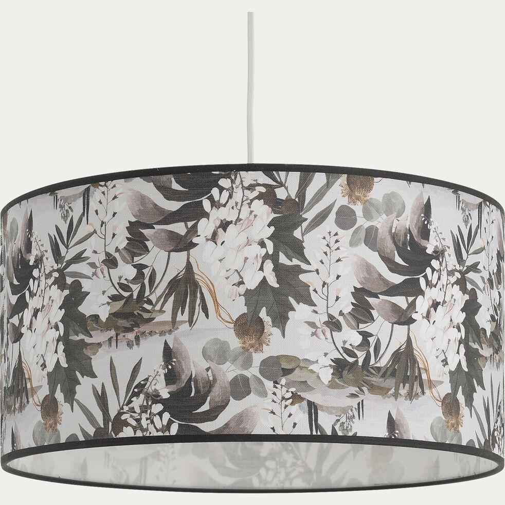 Abat-jour en coton - motif fleurs D40cm-ALIZE