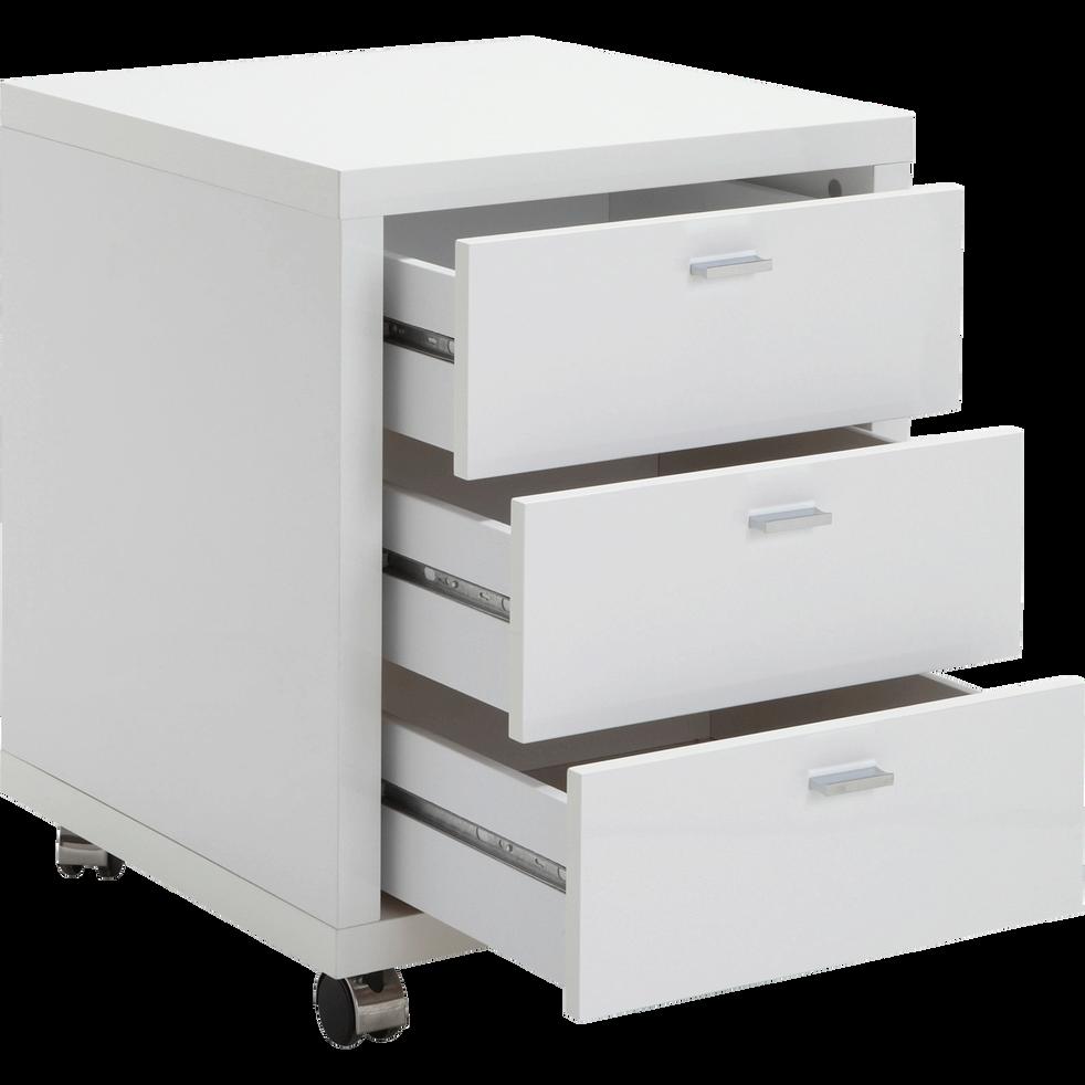 caisson 3 tiroirs roulettes blanc h62 cm oslo tables chaises et bureaux enfant alinea. Black Bedroom Furniture Sets. Home Design Ideas