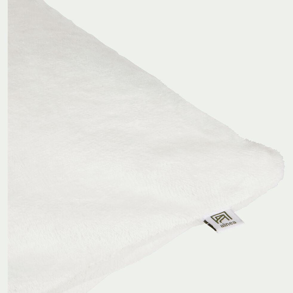 Housse de coussin effet polaire en polyester - blanc ventoux 65x65cm-ROBIN