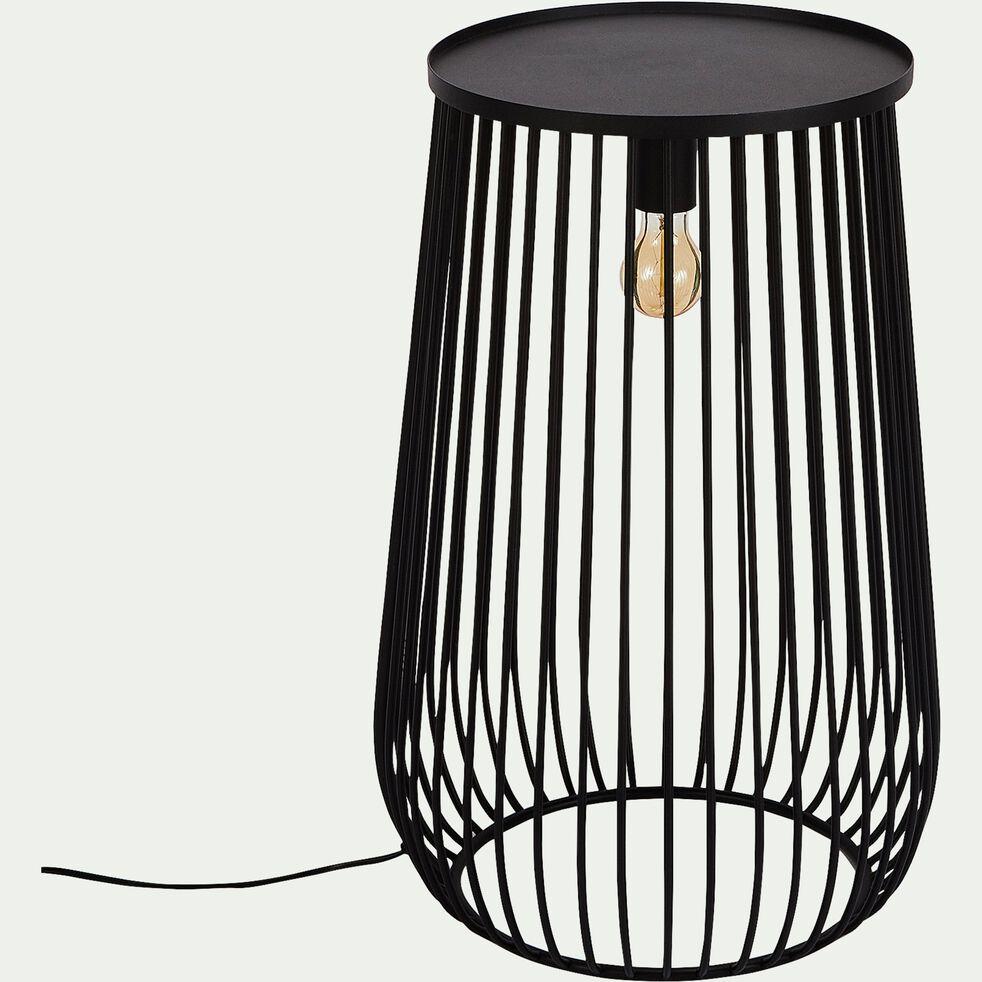 Lampe de sol en métal noir H10,10xD10cm - SINO - lampe à poser - alinea
