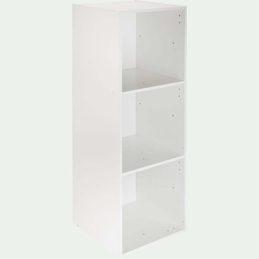 Structure 3 cases en bois H102,6cm - blanc-Zac