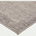 Tapis tissé plat intérieur et extérieur - gris 80x150cm-Bastian