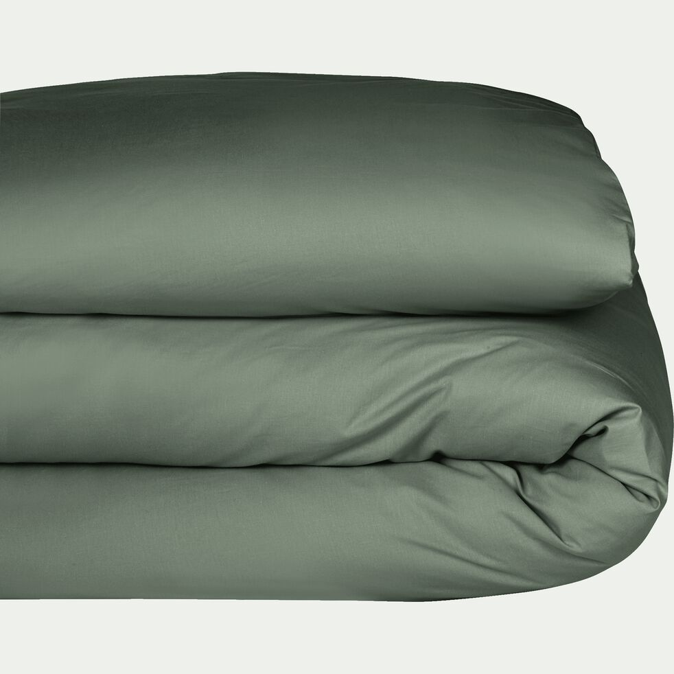 Housse de couette en coton - vert cèdre 140x200cm-CALANQUES