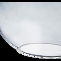 Suspension en verre gris H37xD30cm-BRONX