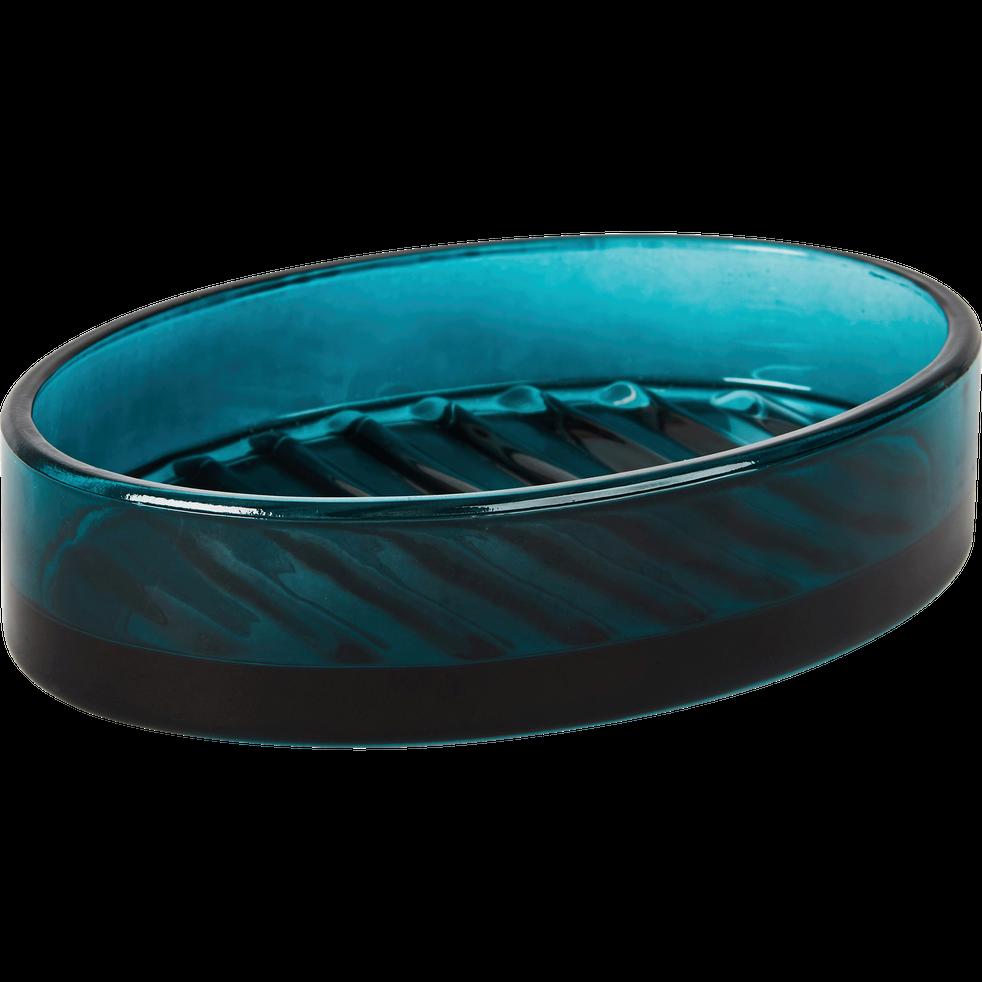 Porte-savon en verre bleu niolon-LILAS