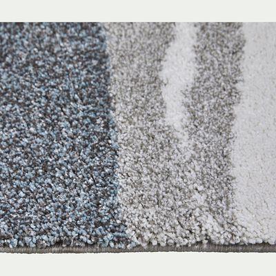 Tapis à motifs gris et bleu 160x230cm-auro