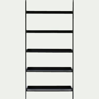 Etagère échelle en bois noir L80cm-ESCALO