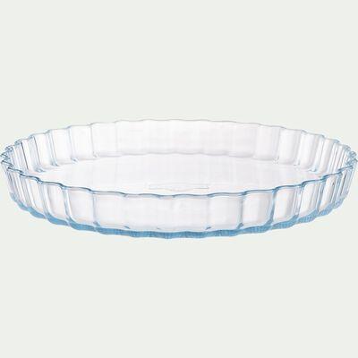 Moule à tarte en verre borosilicate D27cm-AZET