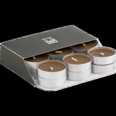 18 bougies chauffe-plats brun albe-HALBA