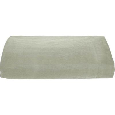 Drap plat en lin vert olivier 270x300 cm-VENCE