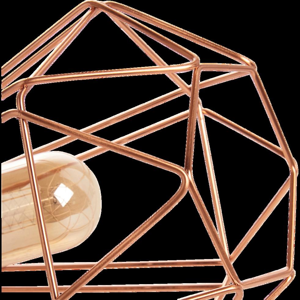 Lampe à poser géométrique en acier coloris cuivre L26,5cm-TARBES