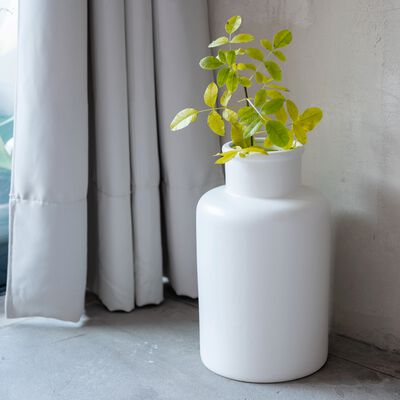 Vase en céramique blanc ventoux D8cm-JARA