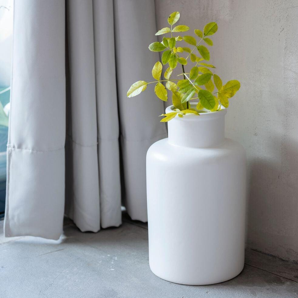Vase en céramique - blanc ventoux D8cm-JARA