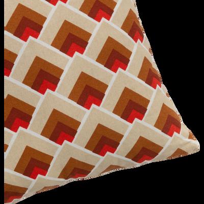 Coussin en coton à motifs colorés 40x40cm-LUCE