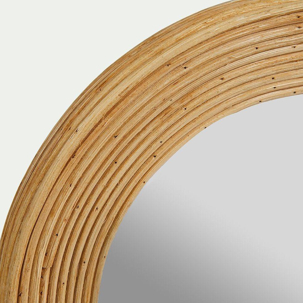 Miroir ovale en rotin - naturel L26xl21cm-TALEO