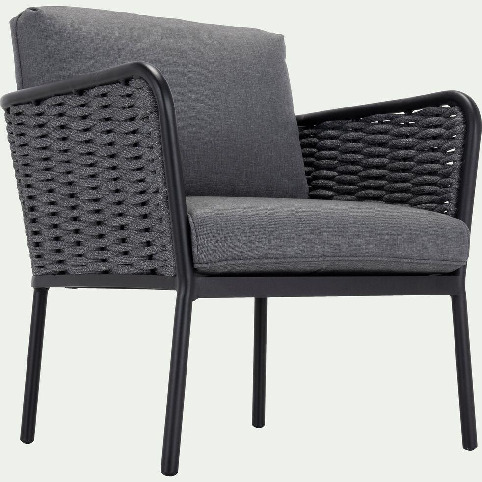 Salon intérieur/extérieur en aluminium gris  (4 places)-SARTENE