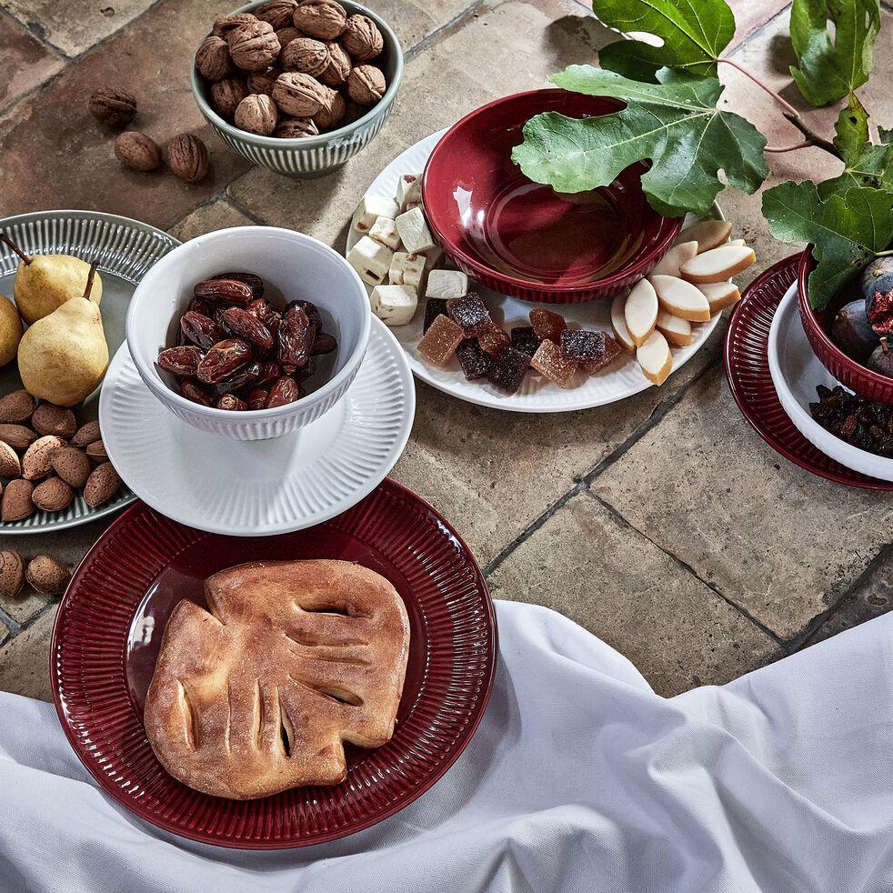 Assiette à dessert en faïence D20,5cm - blanc-MORA