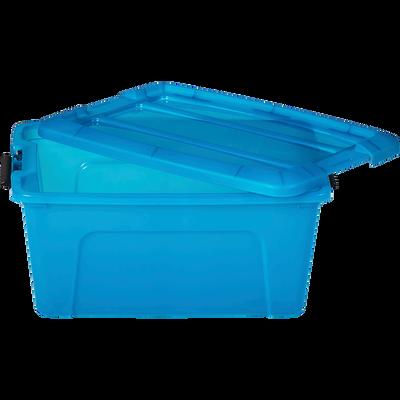 Boîte avec couvercle en plastique bleue 15L-NEW TOP