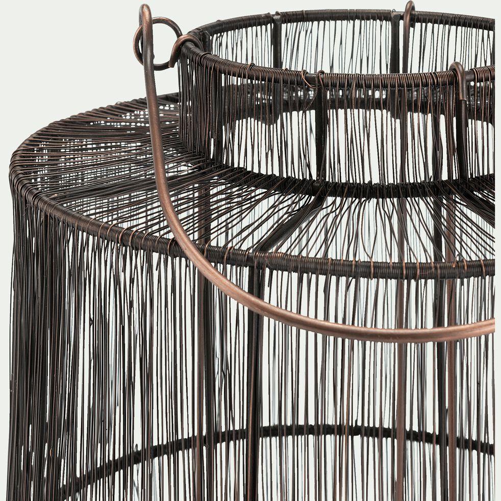 Lanterne en fer D34,5xH44,5cm -  noir-RAHMA