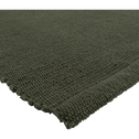 Descente de lit en coton vert cèdre-CAMELIA