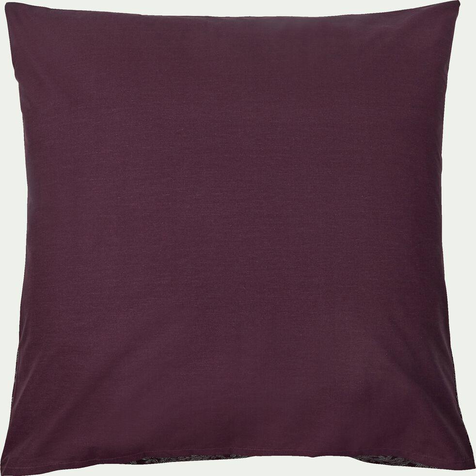 Housse de couette et 2 taies d'oreiller 63x63cm en coton - rouge 260x240cm-LEE