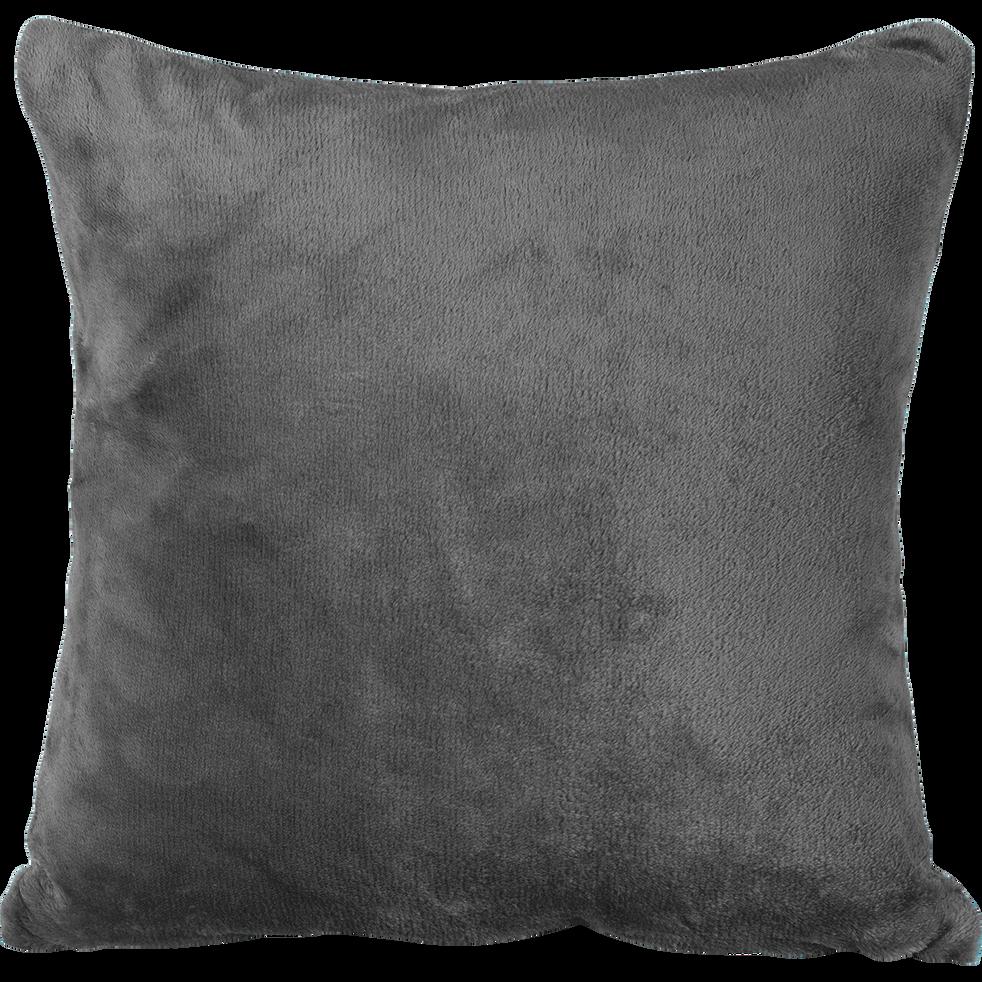 Housse de coussin effet doux gris restanque 65x65cm-ROBIN