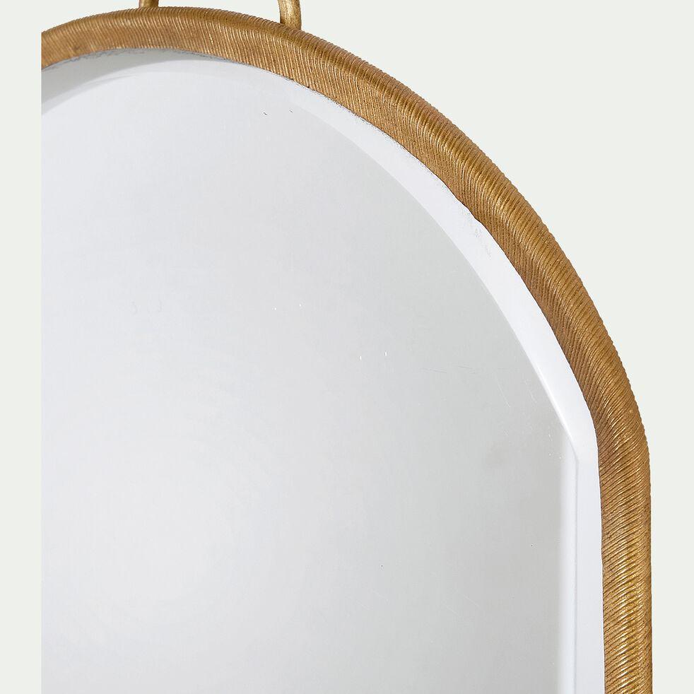 Miroir ovale en cuivre - doré H26cm-BHIL