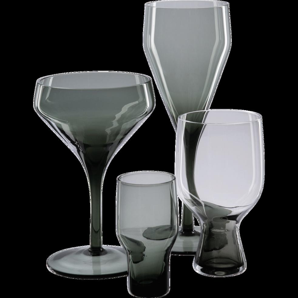 Flûte à champagne en verre gris 36cl-CLAUDIA