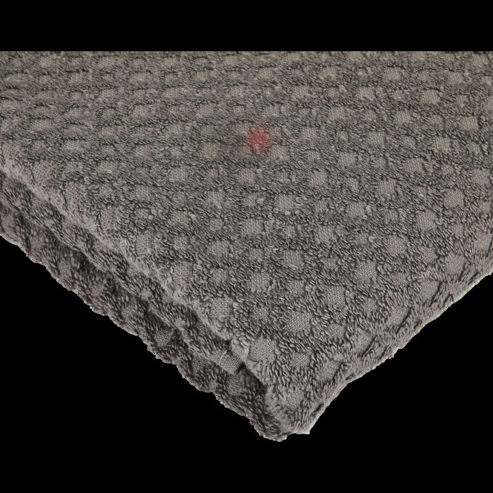 Serviette en coton 50x100cm gris restanque-ETEL