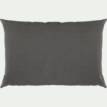 Coussin en coton - gris ardoise 40x60cm-CALANQUES