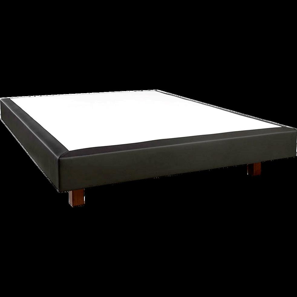 Sommier tapissier noir Duvivier 18 cm - 140x200 cm-EVOK