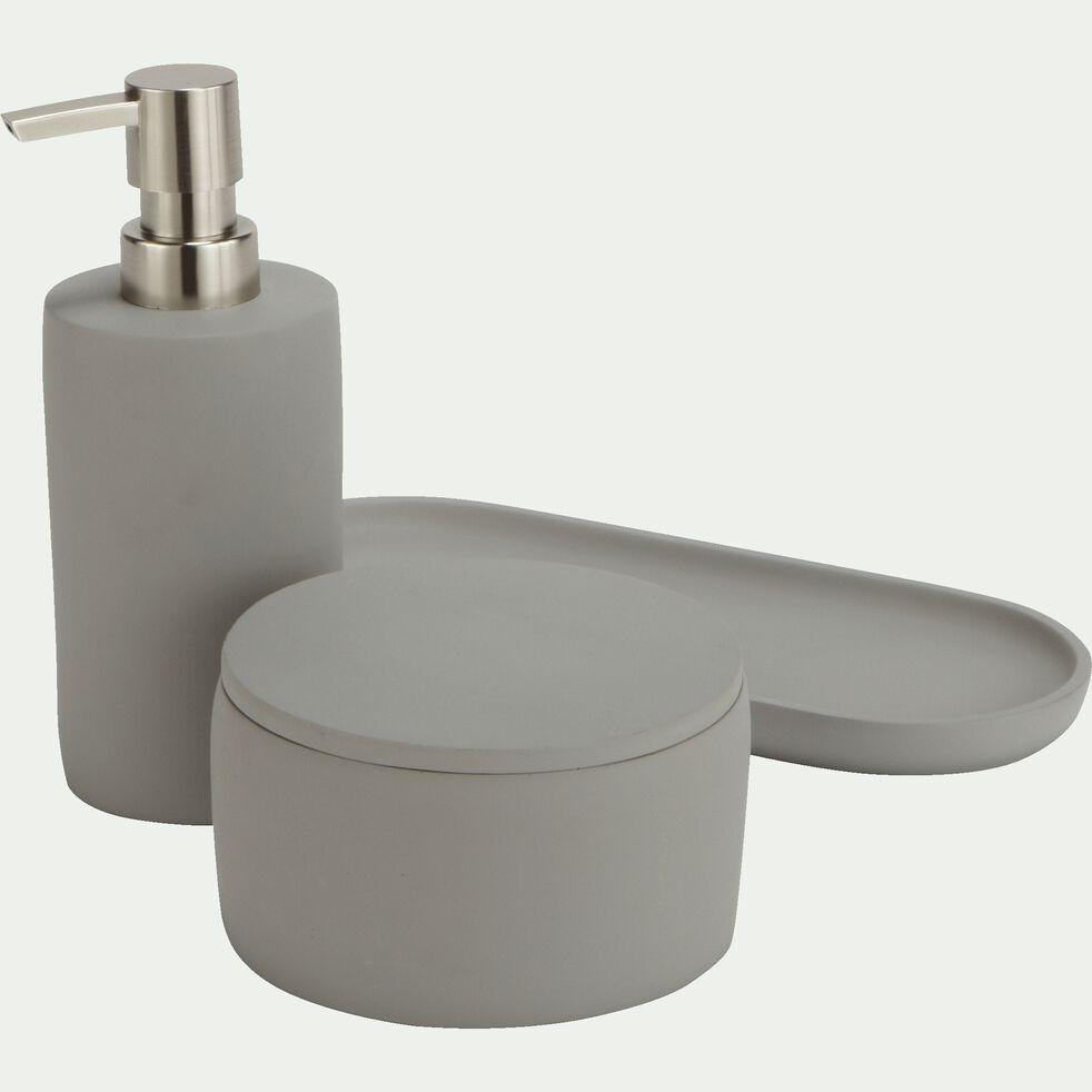 Porte-savon en ciment - gris restanque L25,3cm-BORY