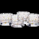 Lot de 4 verrines en verre décorées-TOSCA