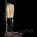 Lampe à poser en métal noir H27cm-TOLO