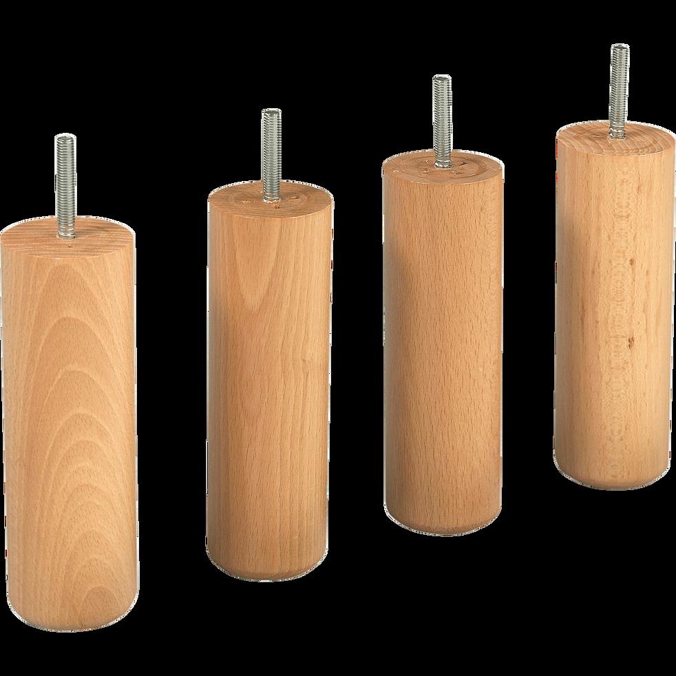 Pieds de sommier naturels H20 cm - jeu de 4-Pack