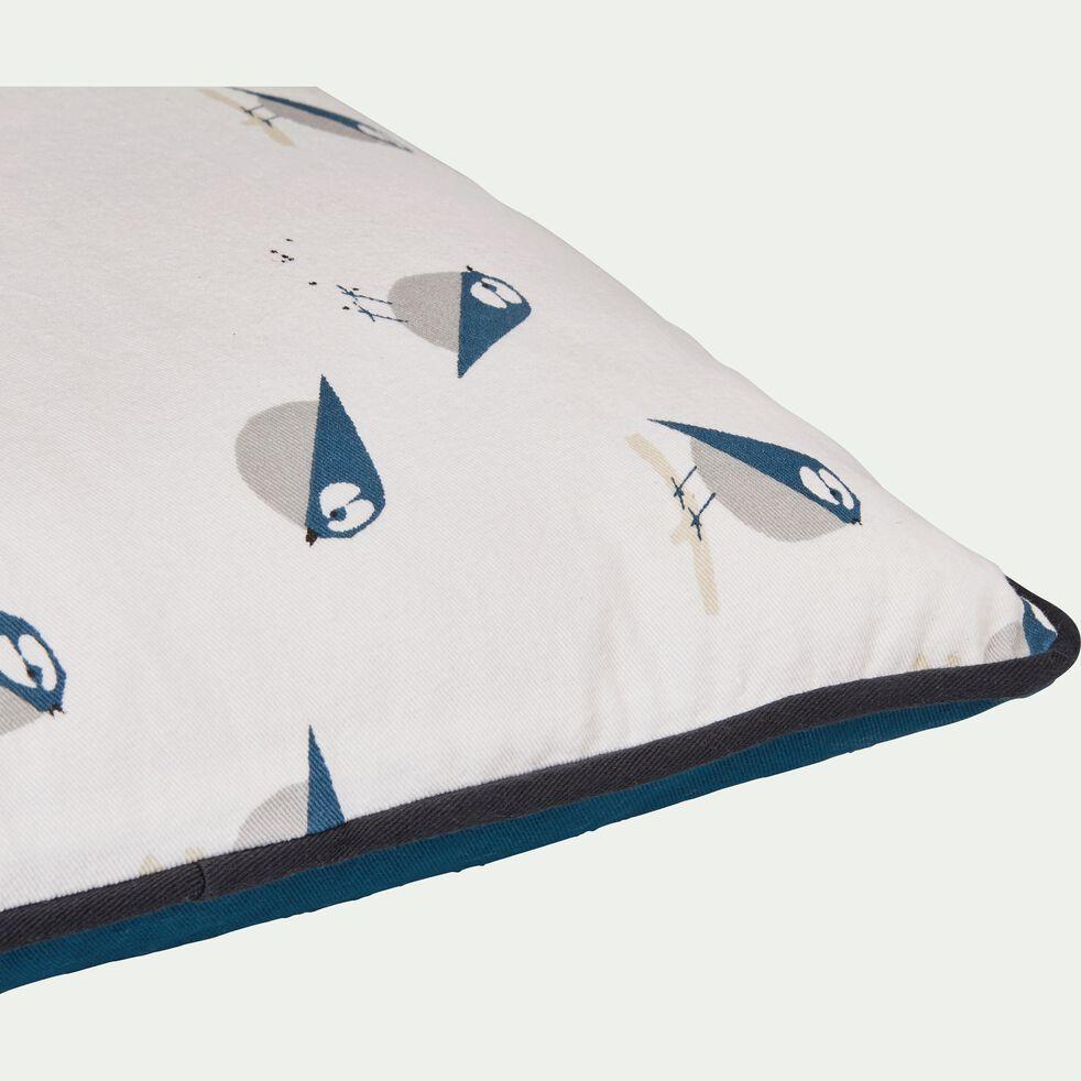 Coussin mesanges 40x40 cm-SYLVA