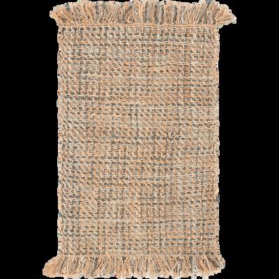 Tapis tressé en jute naturel 120x170cm-NIOLON