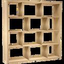 Étagère 12 cases coloris chêne L149.4cm-BRIK