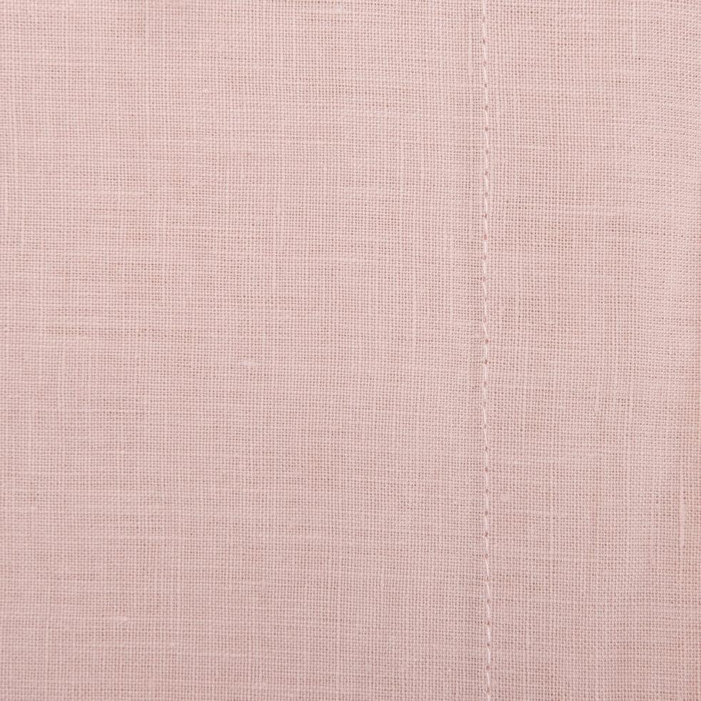 Drap plat en lin - rose rosa 270x300cm-VENCE