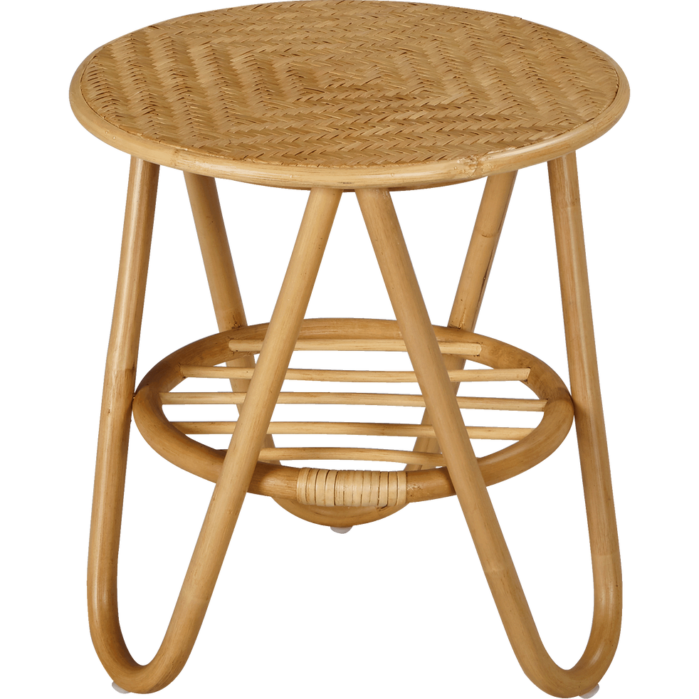 bout de canap rond en rotin ronfino bouts de canap. Black Bedroom Furniture Sets. Home Design Ideas