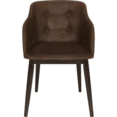 chaise capitonn e blanche en simili avec accoudoirs cork chaises alinea. Black Bedroom Furniture Sets. Home Design Ideas