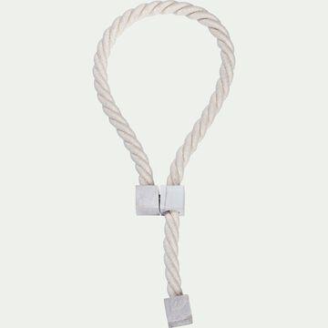 Embrasse magnétique en coton et frêne - blanc écru-BALKAN