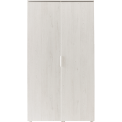 Armoire 2 portes battantes cerisier blanchi-BROOKLYN