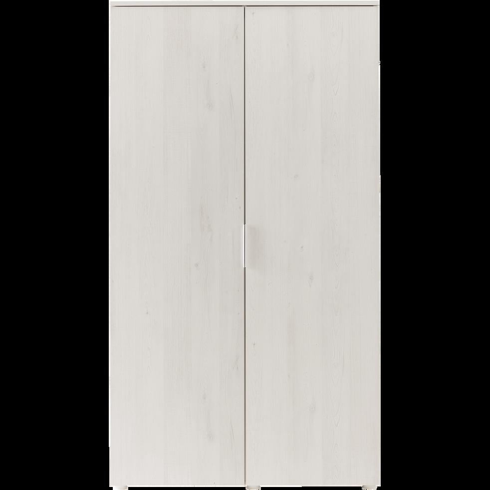 Armoire 2 portes battantes cerisier blanchi-BROOKLYN