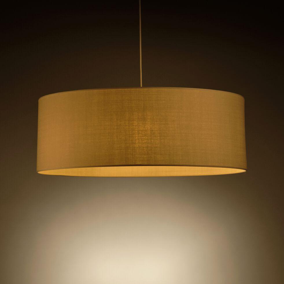 Suspension cylindrique en coton - D75cm beige roucas-MISTRAL