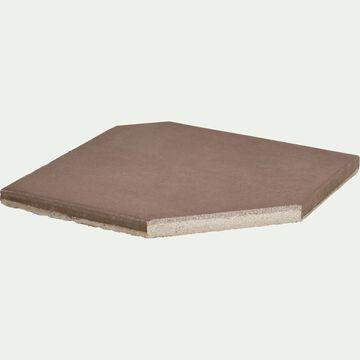 Dalle pour parasol déporté 19,5kg brun châtaignier-VADA