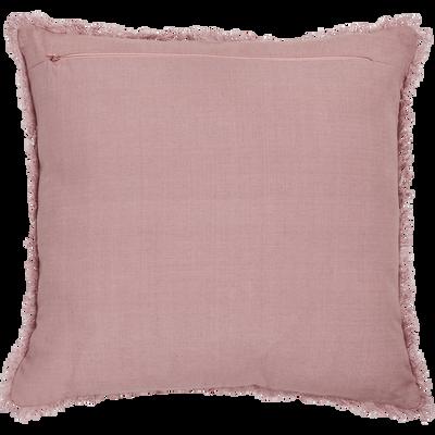 Coussin côtelé en coton rose 40x40cm-SANI