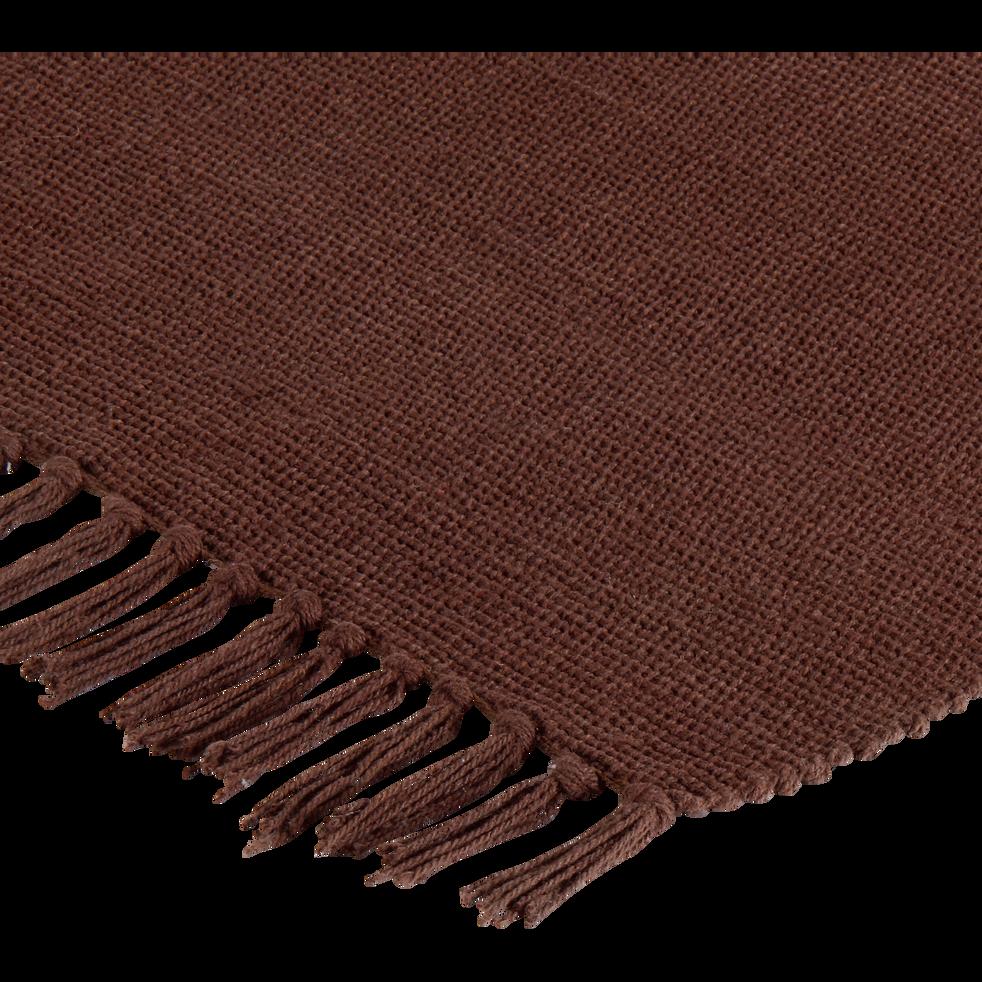 Tapis en coton chocolat 50x80cm-SIMPLY
